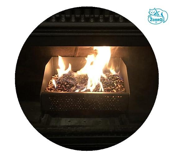 Imex El Zorro 71416 - Cesta quemador de pellets, 30 x 25 x 17 cm ...