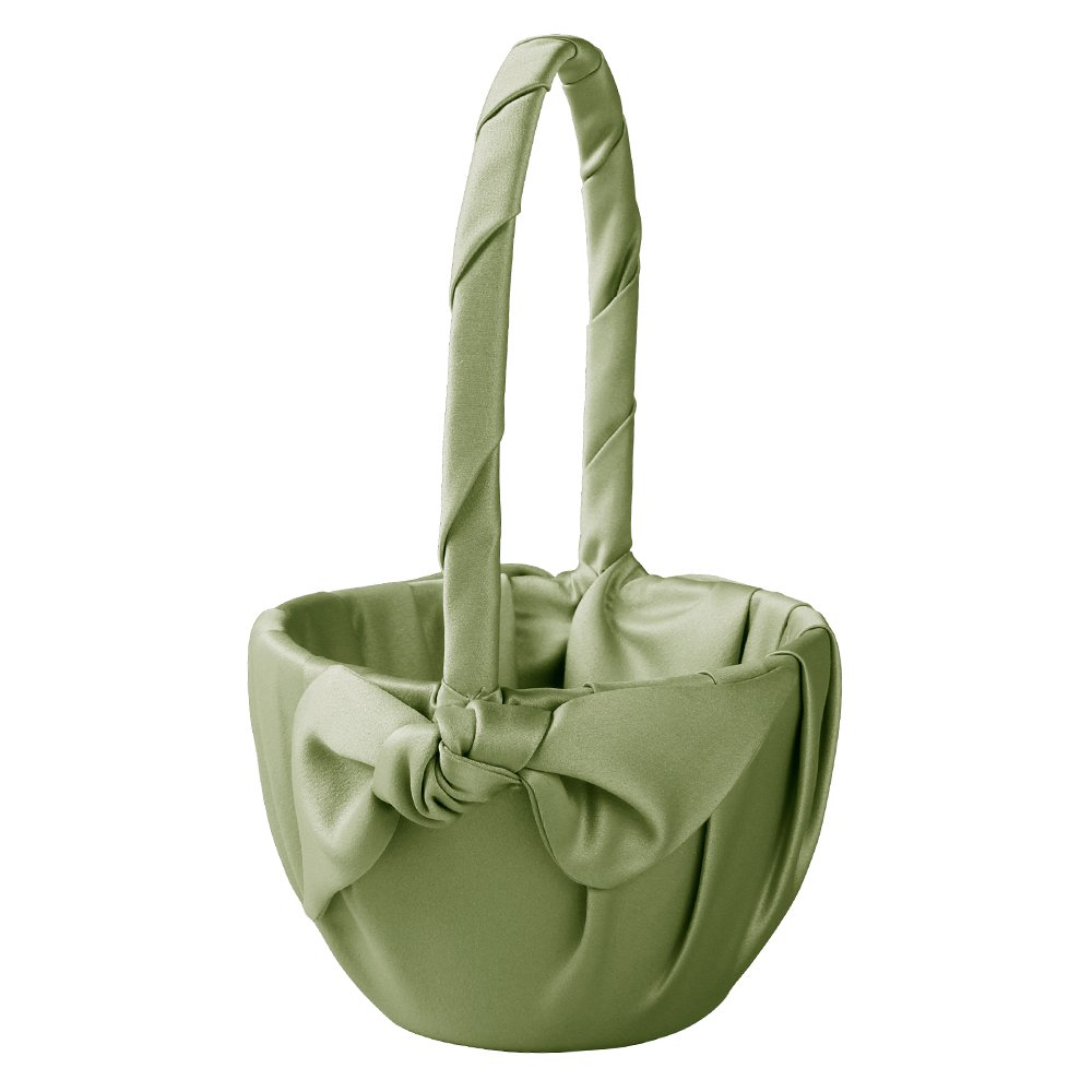 Ivy Lane Design Love Knot Flower Girl Basket, Lime by Ivy Lane Design (Image #1)