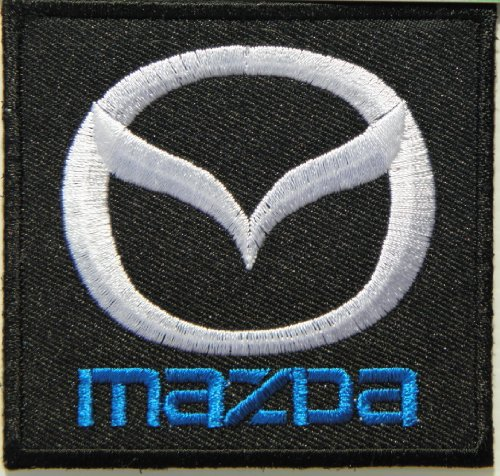 Mazda Car Automotive Nascar Racing Logo Badge Sign Patch Iron on hot Fixed Applique Embroidered T Shirt Jacket Cap Hat Costume