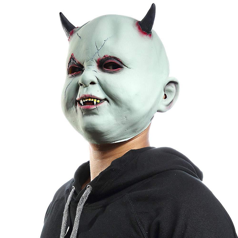 Circlefly Horror Maschera Halloween piccolo demone vampiro ossessionato casa vestire vestire fuga Ostello parrucca prop maschera bambino