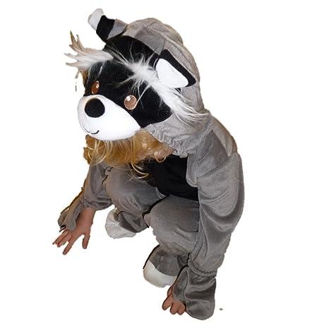 Traje de carnaval infantil Koala mapache niños de Halloween gris ...