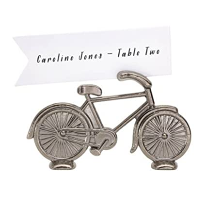6 Chinese Silver Rickshaw Dinner Party Name Place Card Holders Table Favors Table Accessories Tableware