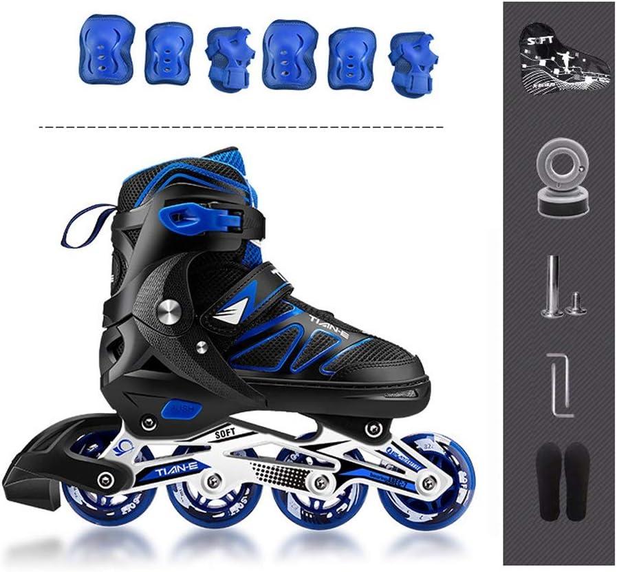 TKW 調整可能なインラインスケート、レクリエーションビッグキッドティーンローラーブレード、初心者向け成人男性女性インラインローラースケート、ブラック (Color : C, Size : M (EU 34-37)) C M (EU 34-37)
