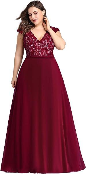 Amazon.com: Ever-Pretty Women\'s Double V-Neck Floral Lace ...