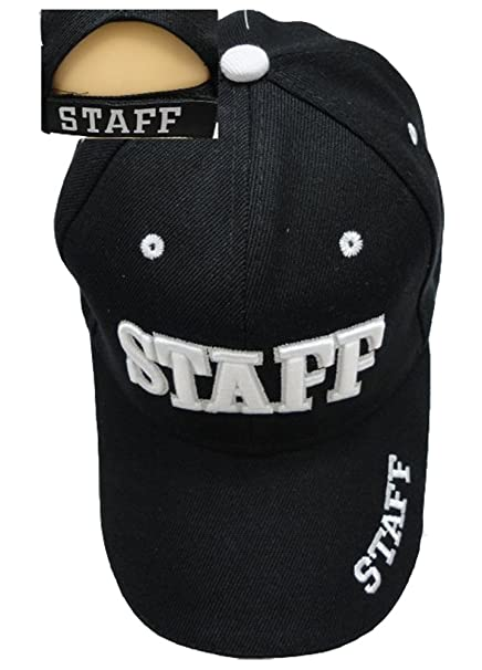 50c8c841072cc0 Image Unavailable. Image not available for. Color: Staff Law Enforcement &  Security Guard Baseball Cap Hat, White 3D Embroidery ...
