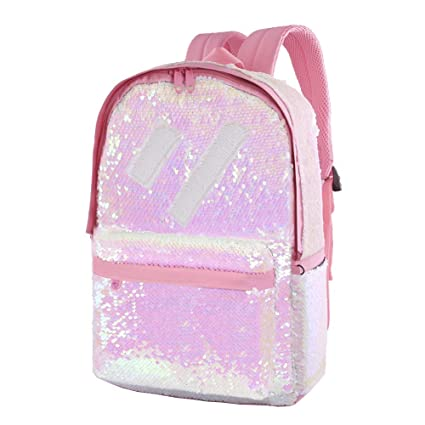 fb250188df54 Le Vasty Flip Glitter Backpack for Girls Kids Cute Sequin School Bookbag  Back Pack Sparkly(Pink)