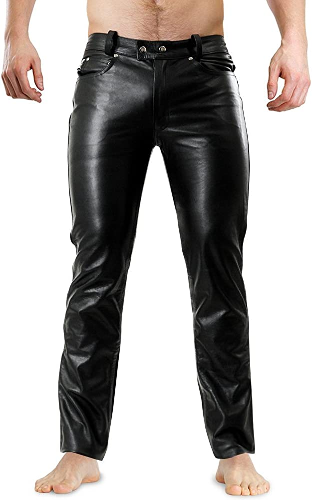 3999852070 Bockle 1991 Tube Lederhose Men Leather Pants Trouser Tight Leather Jeans 61u5Ffj4ZNL