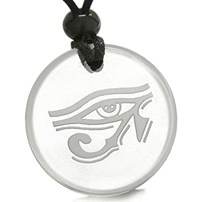 Amazon amulet all seeing eye of horus egyptian magic crystal amulet all seeing eye of horus egyptian magic crystal quartz pendant necklace mozeypictures Images