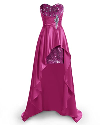 bbonlinedress Hi-Lo Sexy Sweetheart Beaded Sequins Evening Party Gowns Prom Dresses