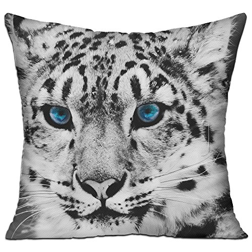 18 X 18 Cotton Linen Decorative Throw Pillow Case Cover With Tiger Print (Tiger Lily Costume Amazon)