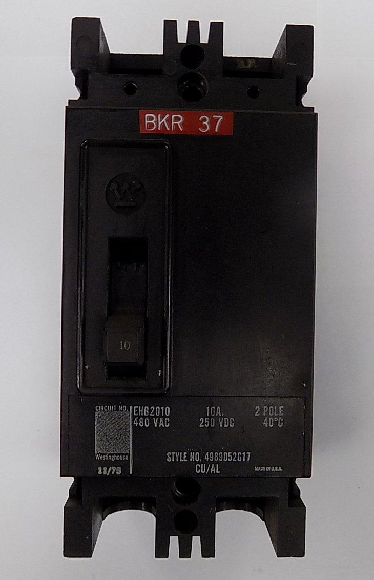 Cutler Hammer Westinghouse Type GHB Circuit Breaker 50 Amp 3 Pole GHB3050
