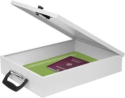 Caja para documentos A4, gris luminoso con cierre de código ...