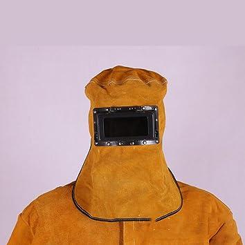 ZHIFENGLIU Sombrero De Soldadura De Cuero De Vaca/Careta Soldada/Máscara De Soldador A