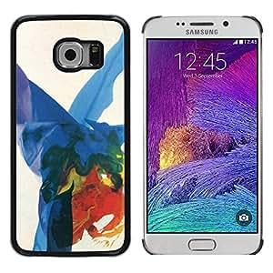 Paccase / SLIM PC / Aliminium Casa Carcasa Funda Case Cover - Art Colorful Splashes - Samsung Galaxy S6 EDGE SM-G925