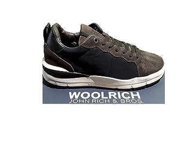Woolrich Herren Sneaker, Blau - Navy-Brown (Blu-Marrone) - Größe