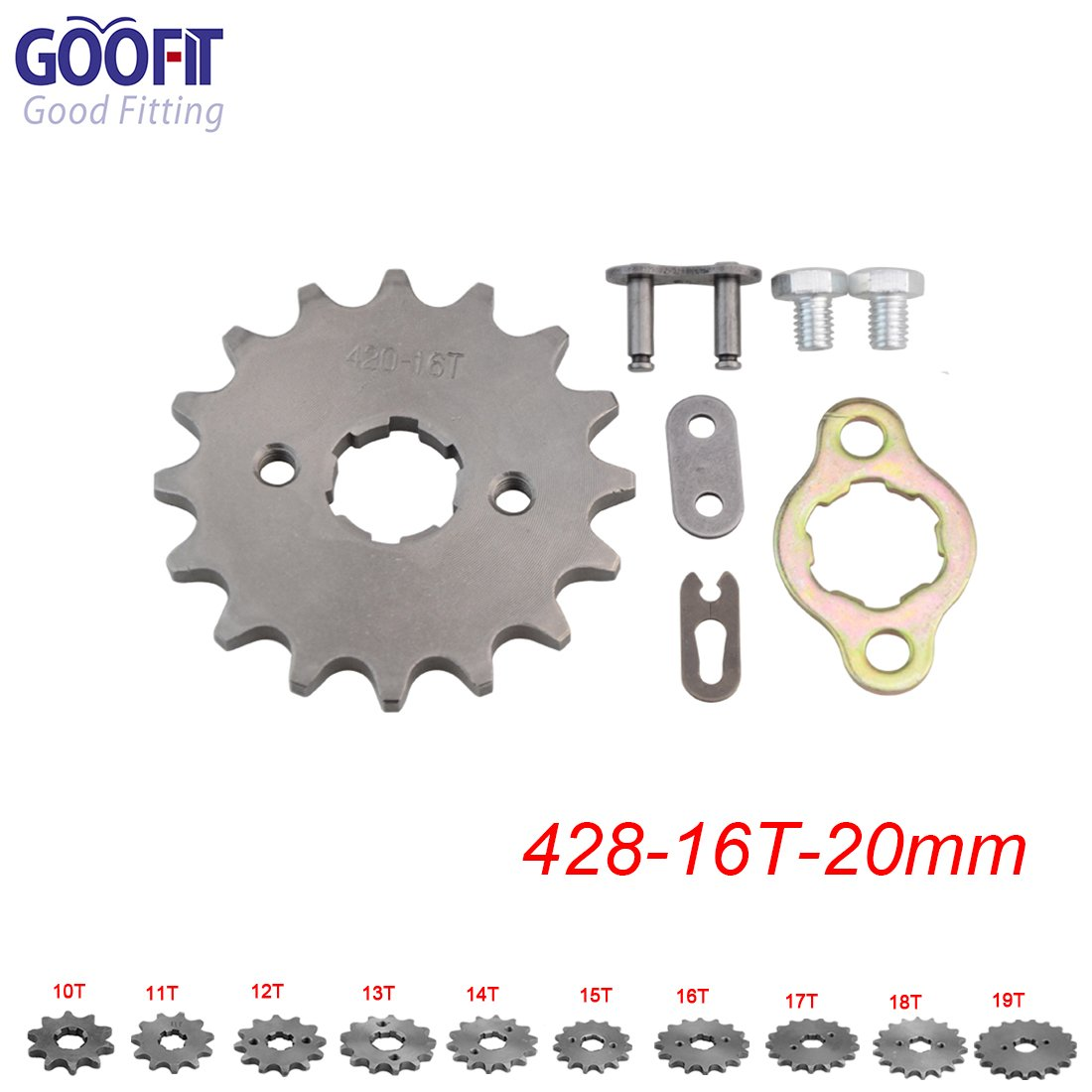 420-16T GOOFIT 20mm Sprocket Front for Motorcycle ATV Dirt Bike
