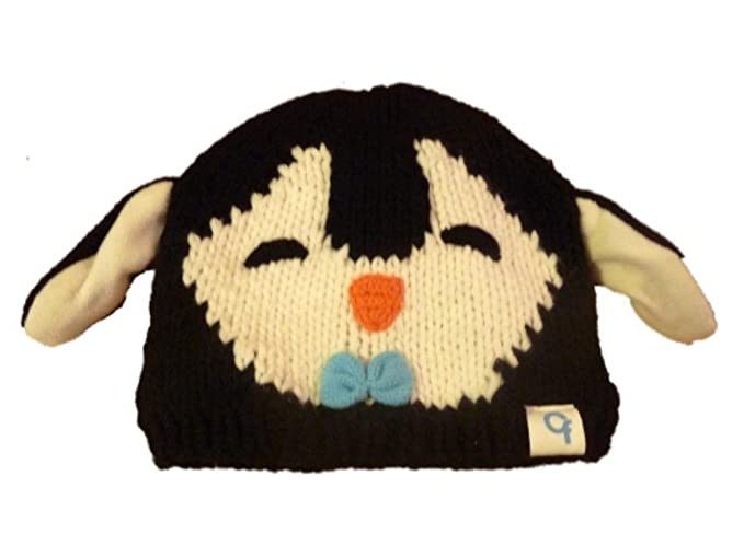 Amazon.com  Cold Front Girls Knit Penguin Beanie Character Hat ... 84f95c7f09a