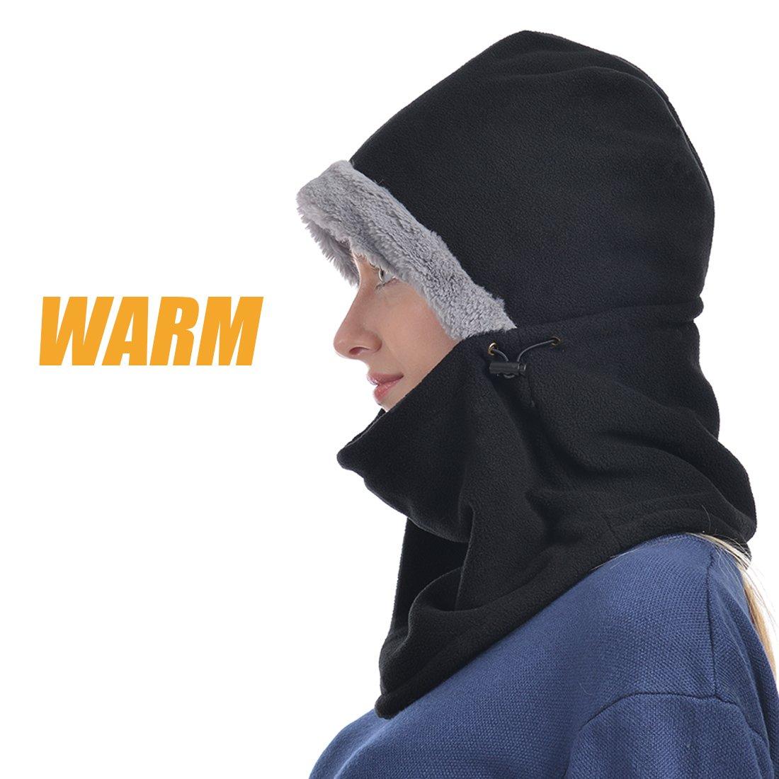 03310bef3f3 UShake Balaclava Fleece Hood for Men or Women