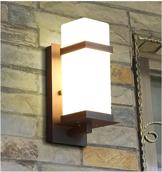 Aplique de Pared Aplique Simple al Aire Libre Escalera Exterior Jardín Cristal Pantalla Interior/Exterior A Prueba de Agua Aplique, Toma E27 (Tamaño: Altura: 40 cm) Luz luz de lámpara: Amazon.es: Hogar