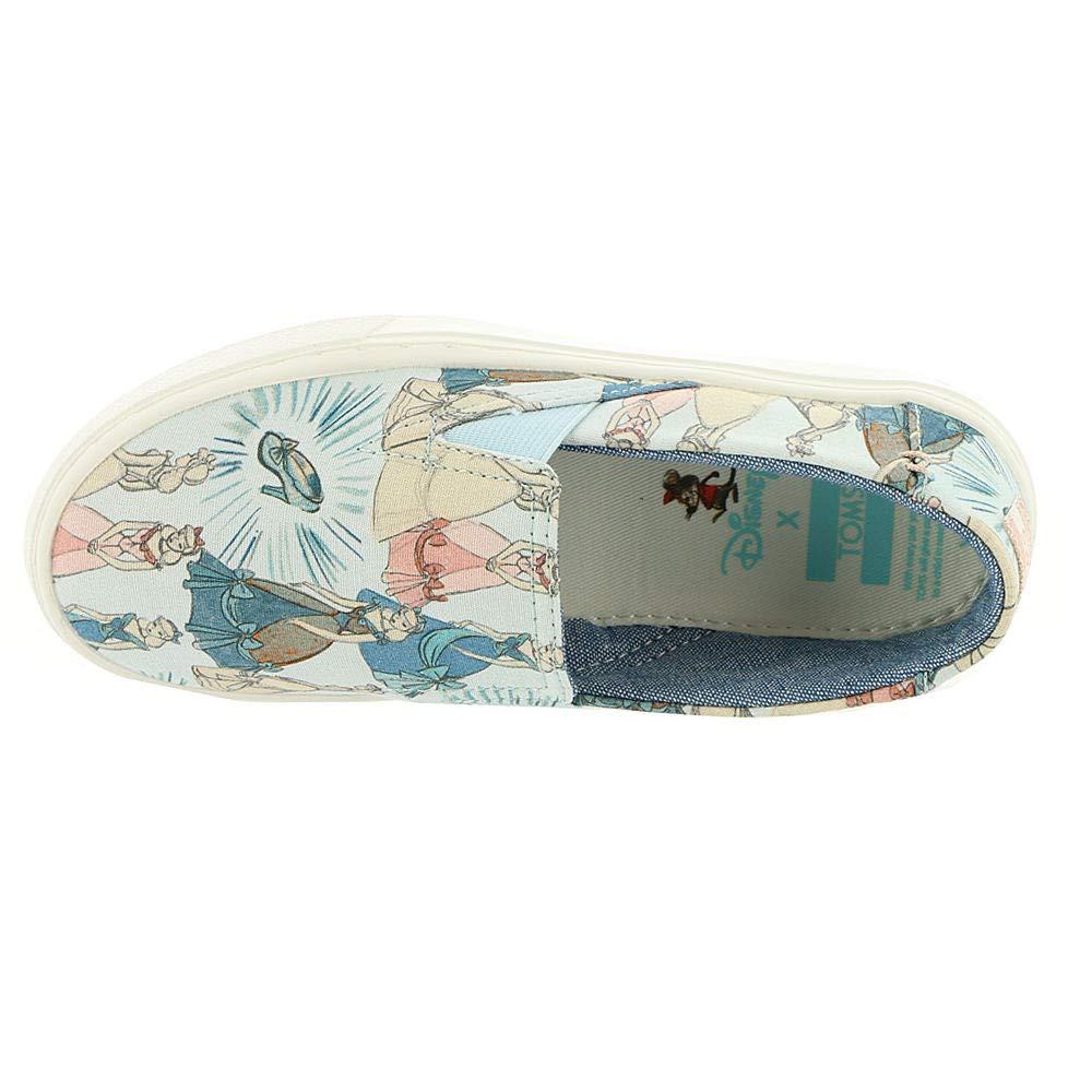 TOMS Girl's, Luca Slip on Shoes Disney Cinderella 1.5 M by TOMS Kids (Image #2)