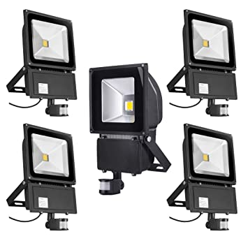 PrimLight 5 PCS 100W Foco con Sensor de Movimiento Proyector Led ...
