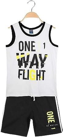 BE BOARD Camiseta Blanca con Letras + Bermuda Negras – Juego Deportivo de algodón para niño Bianco M: Amazon.es: Ropa y accesorios