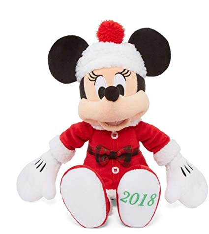 Christmas Minnie Mouse Plush.Disney Minnie Mouse Christmas 2018 Holiday Plush 13 5 Inches