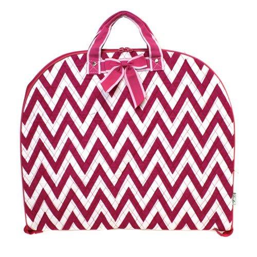 [luggage 7019 quilted garment bag chevron fuchsia] (Theatre Costume Closet)