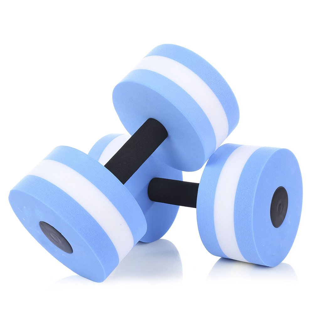 CHYIR Fitness Pool Exercise EVA Water Aquatics Dumbbell for Swimming Training 2pcs