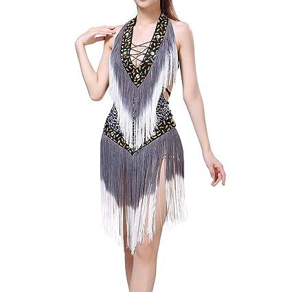 Robe Latine Léopard Femme Salle De Danse Gyratedream Sexy Gland 35jALcR4q