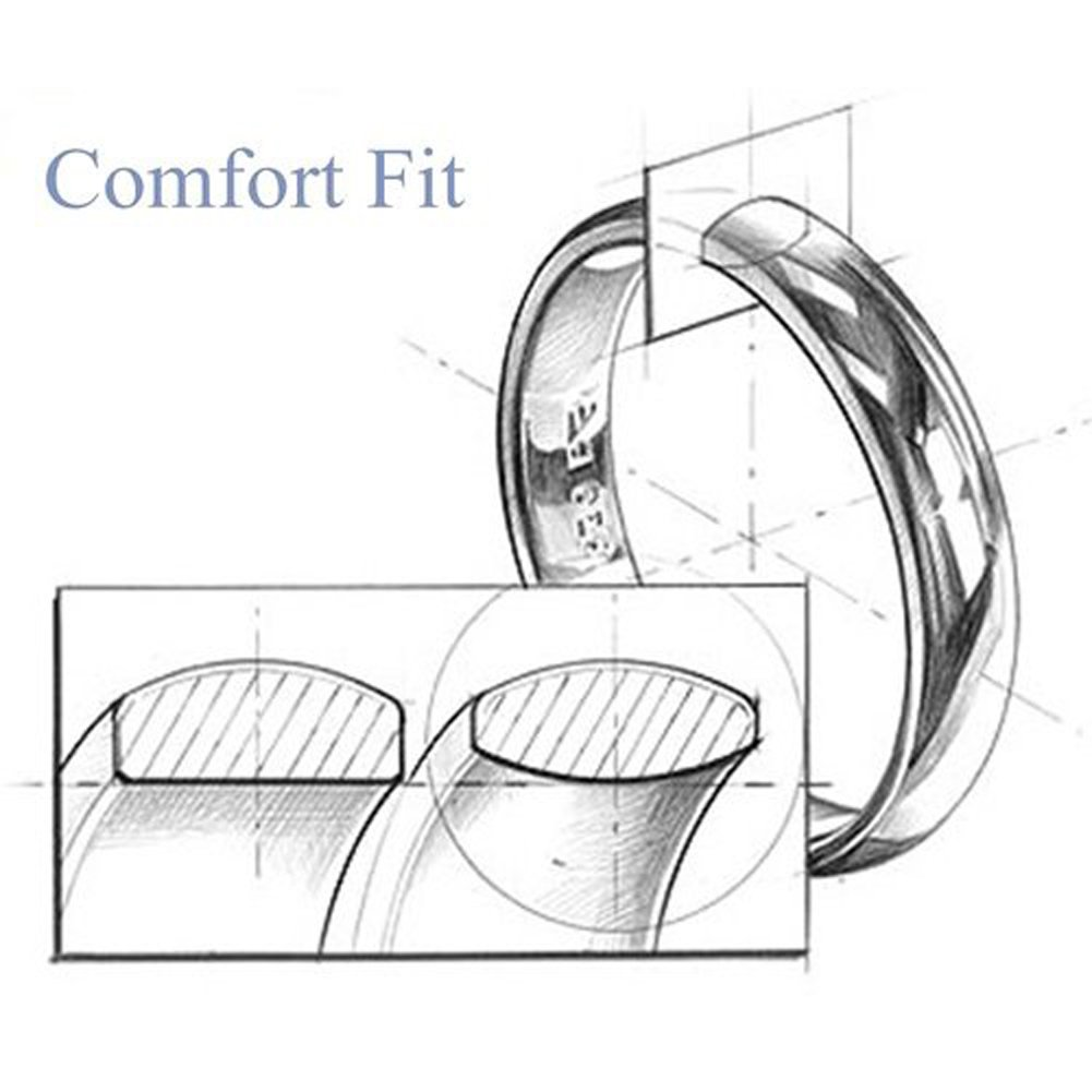 SAINTHERO Men's Wedding Bands Vintage Wide 12MM Black Titanium Steel Hearts Spinner Forever Love Promise Rings for Him High Polish Comfort Fit Size 11 by SAINTHERO (Image #5)