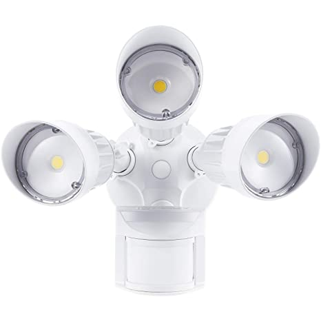 Head Motions Offer Better Way To Detect >> Amazon Com Leonlite 30w 3 Head Motion Activated Led Outdoor