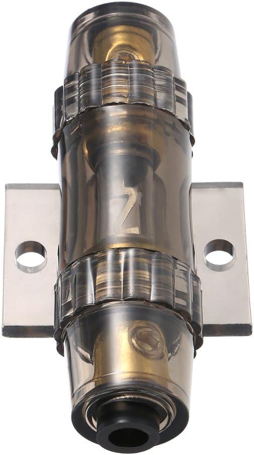 KKmoon IMC Audio 60 Amp Inline Le support de fusible AGU convient 4 8 10 Gauge Wire gris