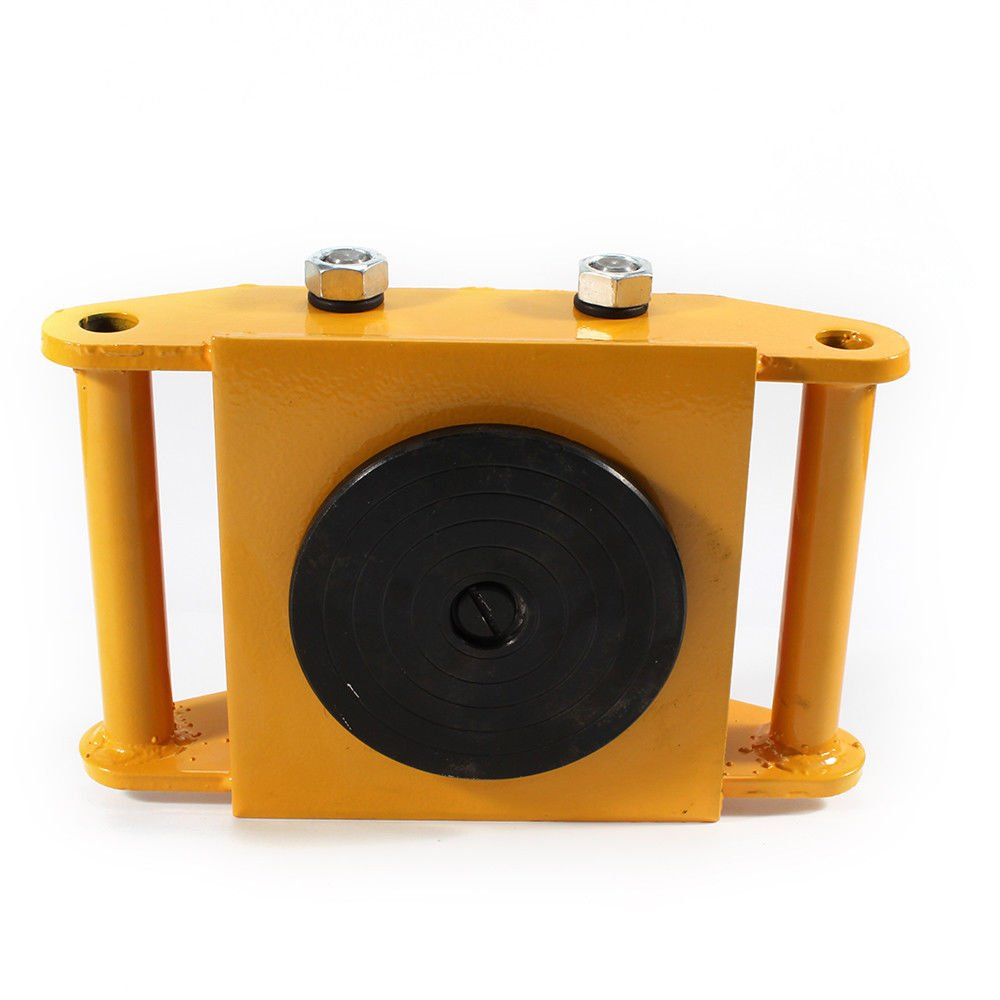 Machinery Mover,360 Degree Rotation Cap 6 Ton Capacity Industrial Dolly Machinery Skate Mover Roller Dolly with 4 Polyurethane wheels (Yellow) by NOPTEG (Image #9)