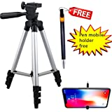Tripod-3110 Portable Adjustable Aluminum Lightweight camra Stand with Three-Dimensional Head & Quick Release Plate for Video Cameras and Mobile Tripod Tripod (Black,Silver,SupportsUp to1000g)