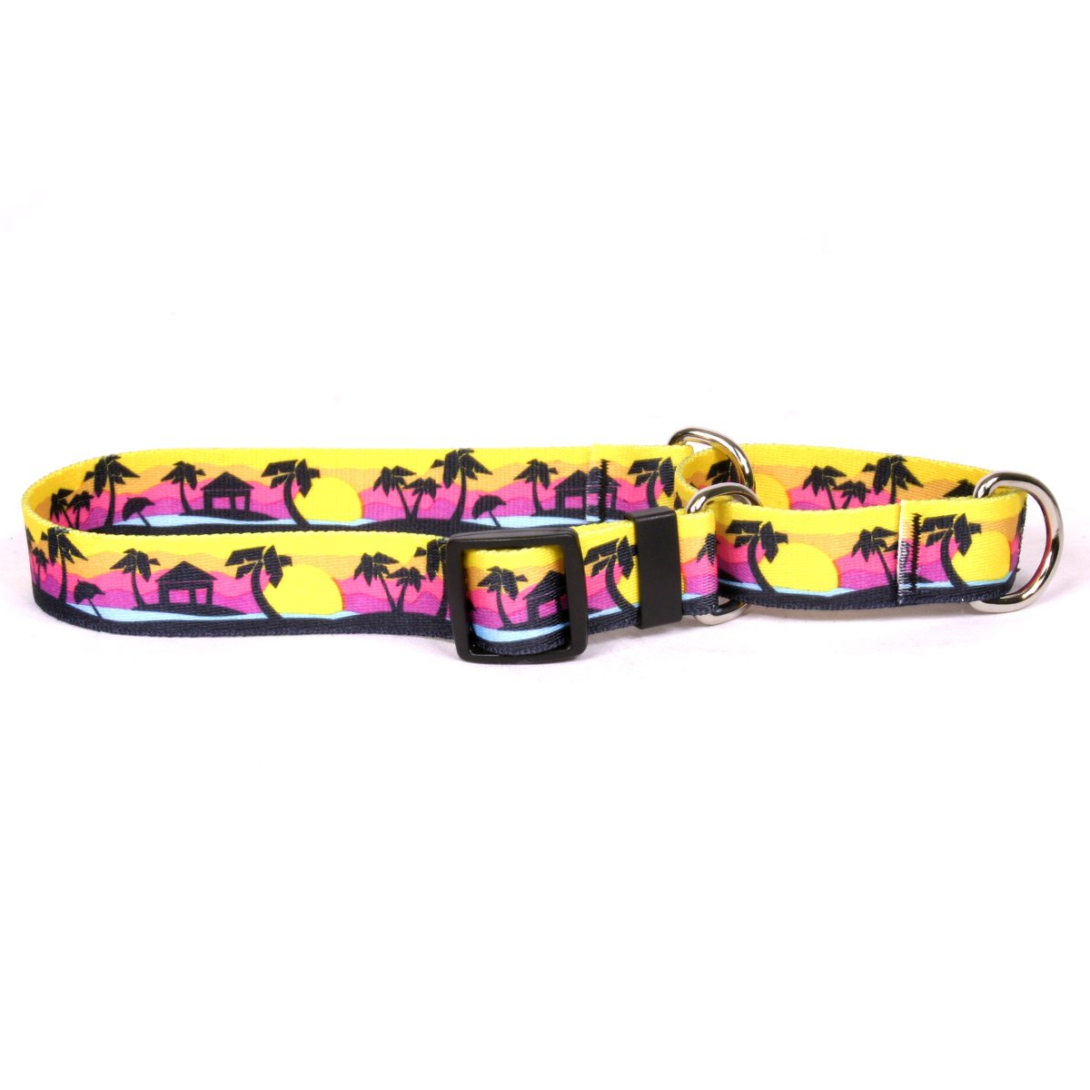 Yellow Dog Design Palm Tree Island Martingale Dog Collar, Small-3/4 Wide and fits Neck Sizes 12 to 16''