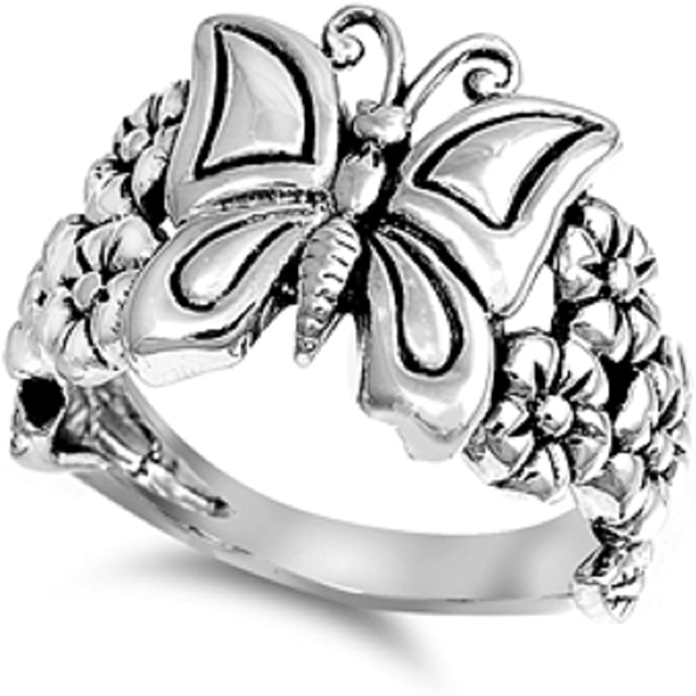 Princess Kylie 925 Sterling Silver Double Angel Wings Ring