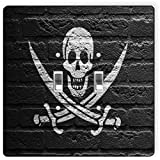 Rikki Knight 1759 Double Toggle Pirate Flag On Brick Wall Design Light Switch Plate