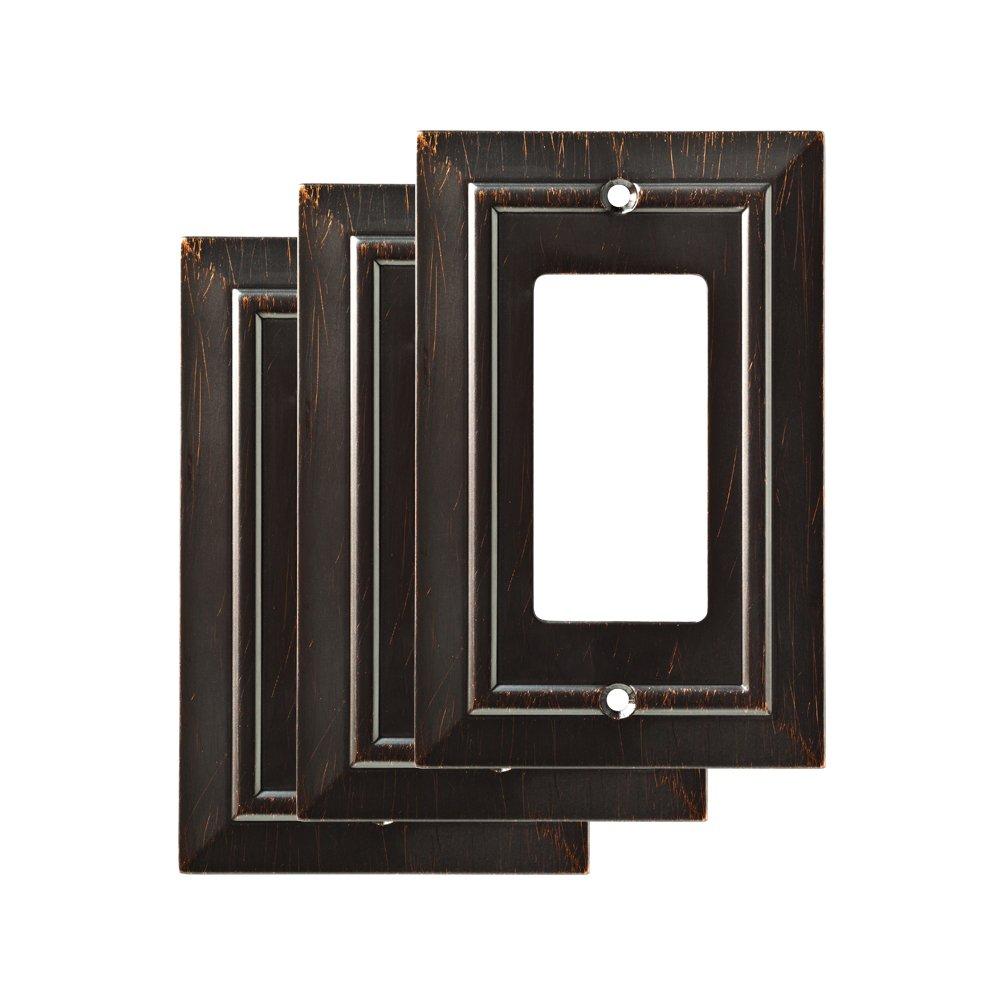 Franklin Brass W35219M-VBR-C Single Decorator Wall Plate/Switch Plate/Cover, Venetian Bronze