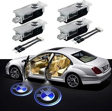 YYD L/ámpara LED para el autom/óvil de la Puerta Luces con Logotipo del proyector Luz de Fantasma L/ámpara de Bienvenida para BMW Accesorios para la luz de la Puerta Compatible 3//5//6//7 Serie 4 Piezas