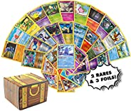 Pokemon Cards 50 Card Assorted Lot - Commons/Uncommons - Rares - Foils! Repack! Includes Golden Groundhog Trea