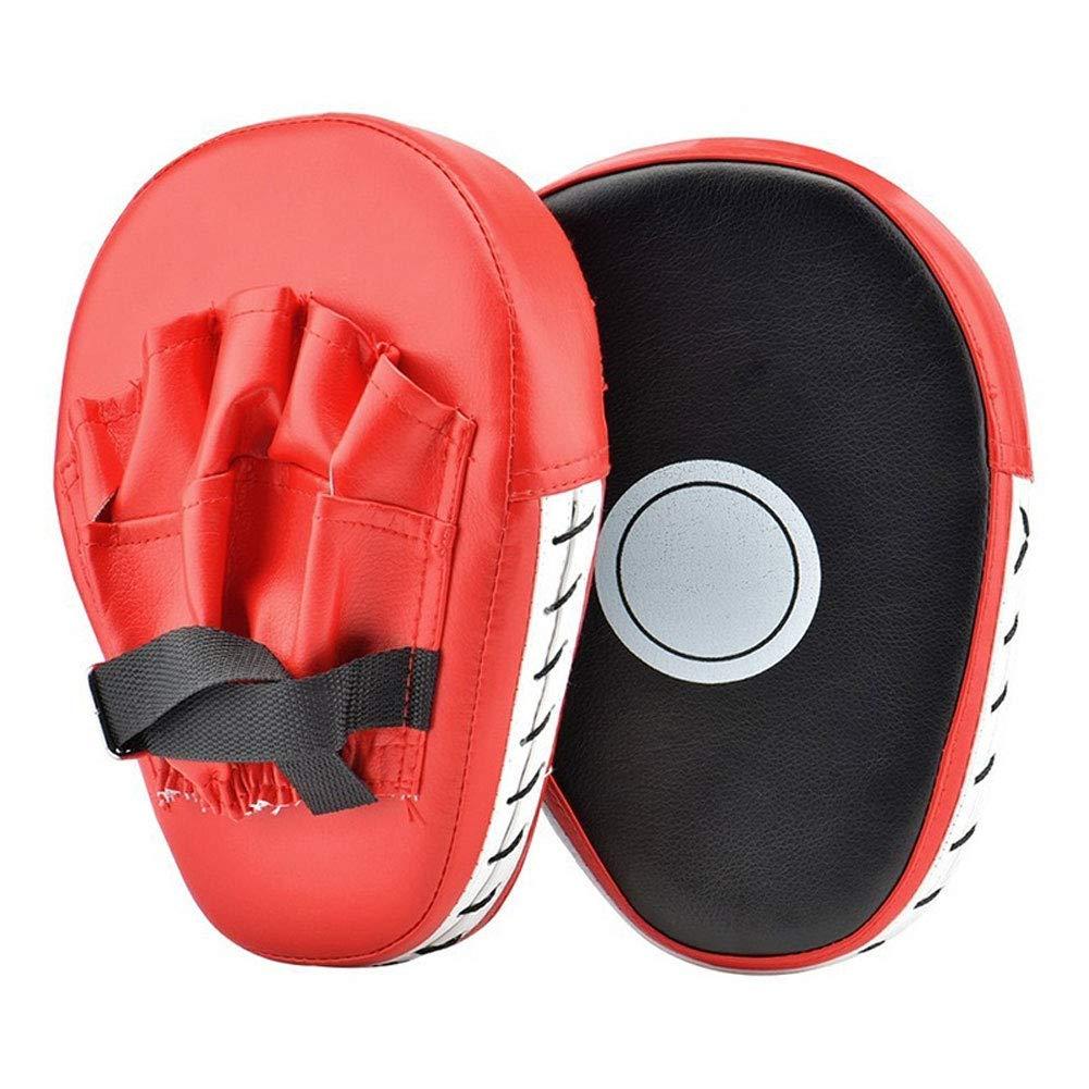Moonsun08 ボクシングフォーカスパンチングパッド ハンドターゲットトレーニングファイトフェイクレザーグローブ 1ペア  27cm x 20cm x 5cm