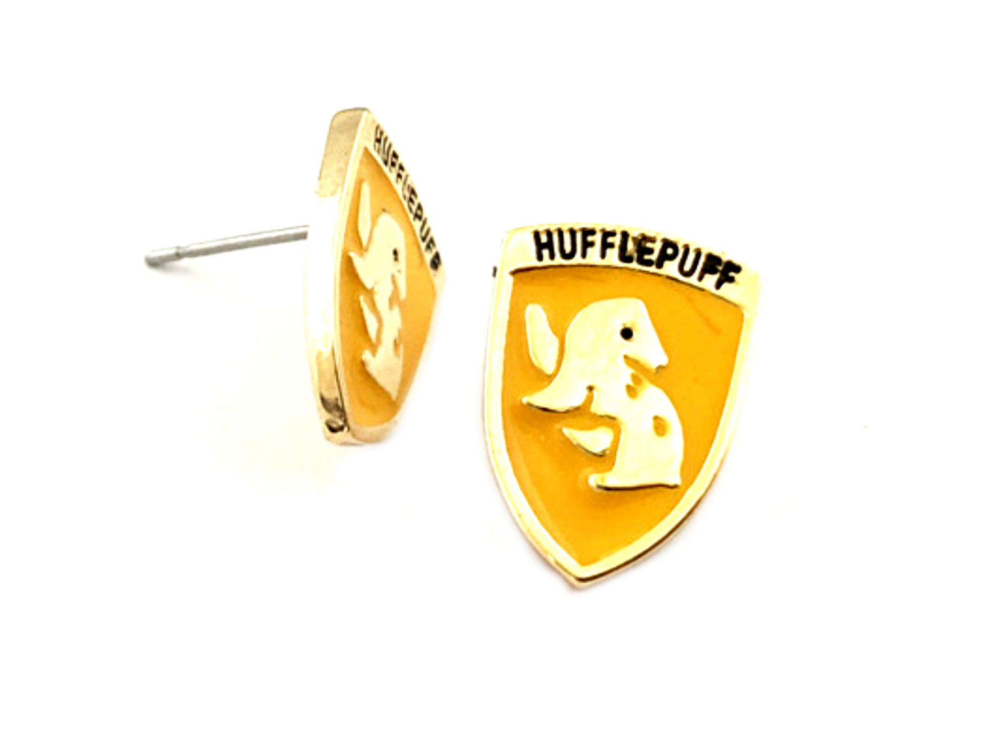 Harry Potter Post Stud Premium Quality Silvertone Earrings Golden Snitch Gryffindor Slytherin Ravenclaw Hufflepuff Crest