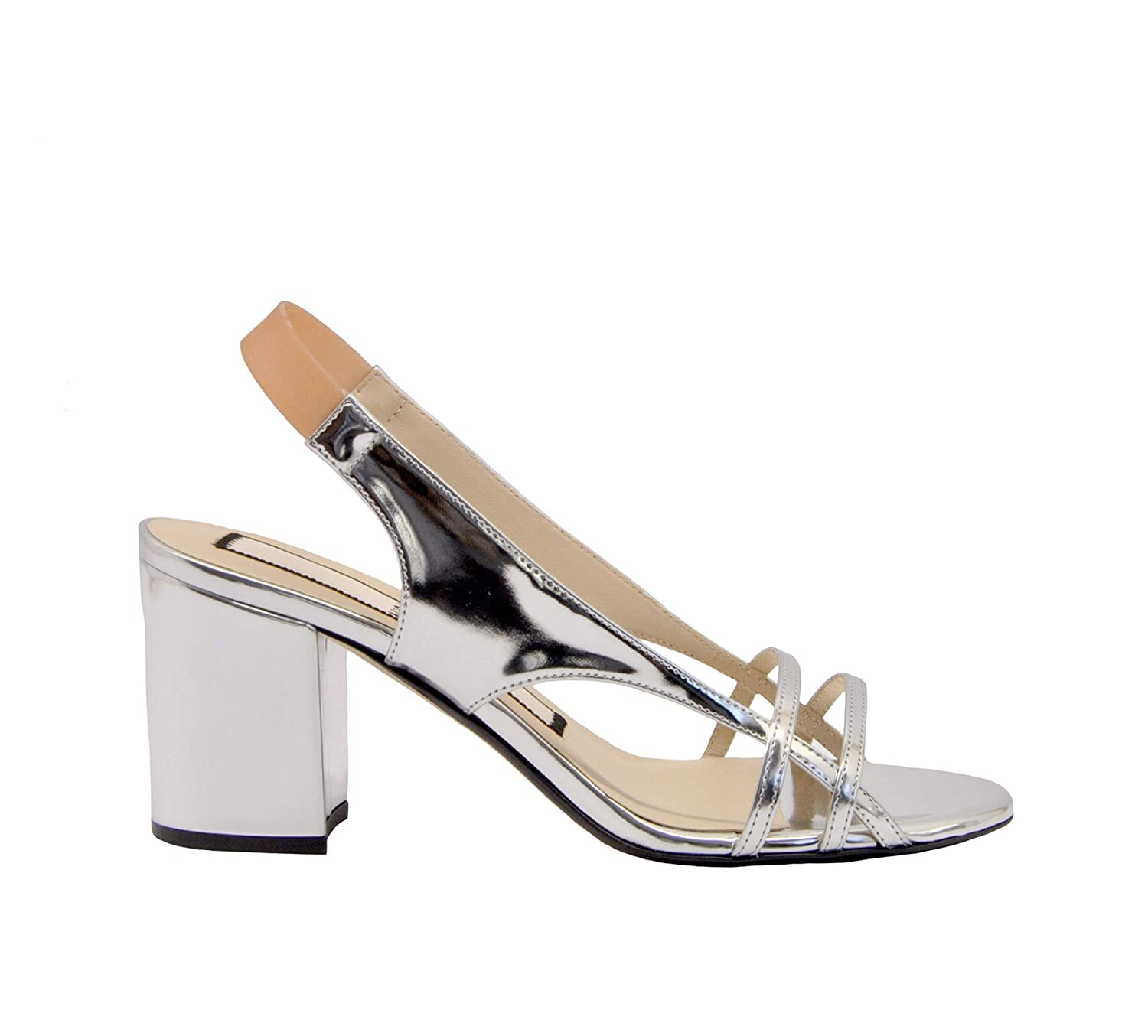 - N°21 Women's N2119E850602030901 Silver Leather Sandals