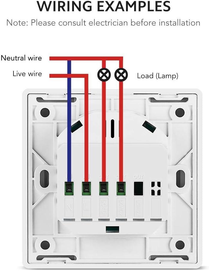 Esquema de instalación interruptor inteligente