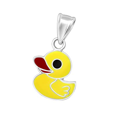 eccd7449484 Buy Aww So Cute - 925 Silver Yellow Duck Pendant for Girls and Kids  (NK0832) Online at Low Prices in India | Amazon Jewellery Store - Amazon.in