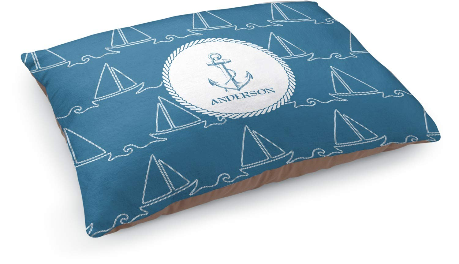 RNK Shops Rope Sail Boats Dog Pillow Bed (Personalized)