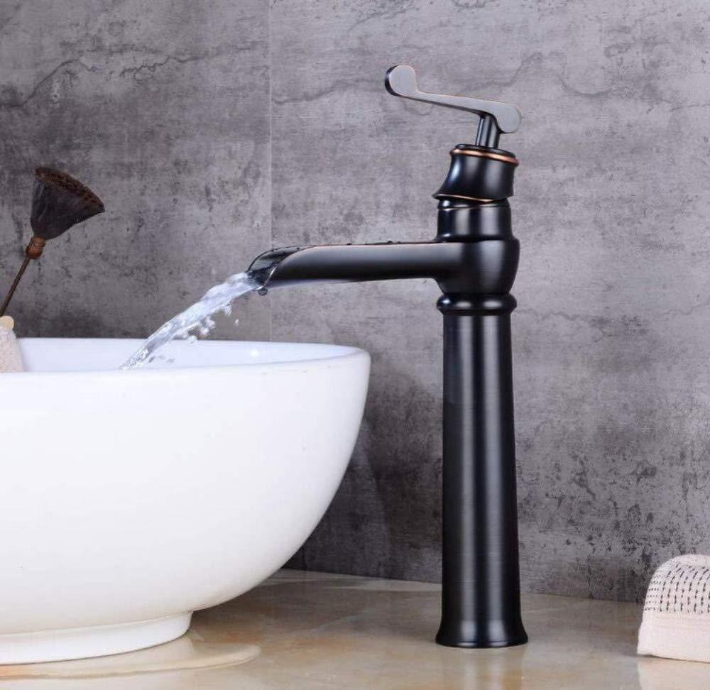 Retro Mischerhahn Wasserhahn-Wannenhahn Des Heißen Und Kalten Toilettenbeckens Des Hahns Schwarzes Und Retro- Badezimmer