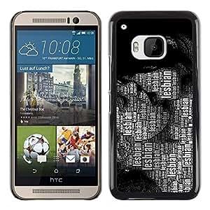 Be Good Phone Accessory // Dura Cáscara cubierta Protectora Caso Carcasa Funda de Protección para HTC One M9 // Lesbian Lgbt Quote Art Women Kissing Rights