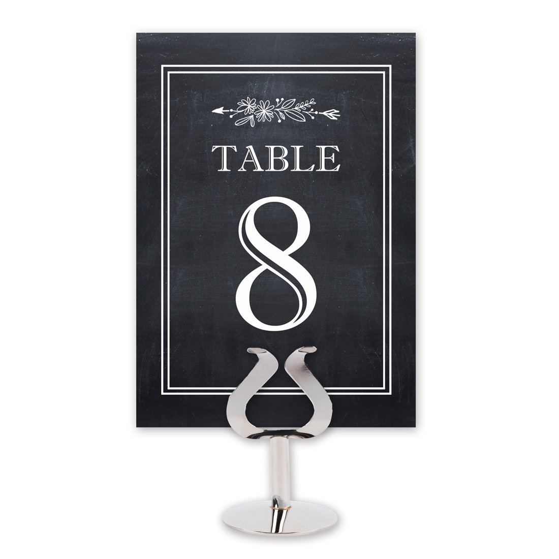 Printed Party Chalkboard Style Table Card Numbers for Wedding Reception - Double Sided - 1-25